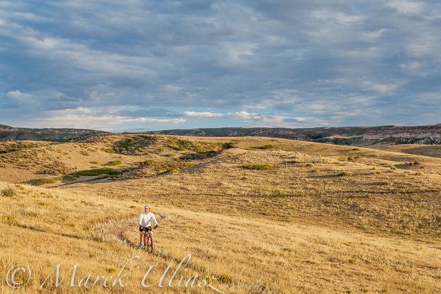 Sunrise biking in Soapstone Prairie Natural Area