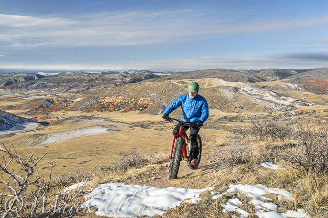 fat bike on Cheyenne Rim trail