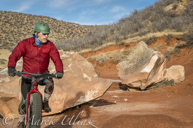 fat bike in Red Mountain Open Space