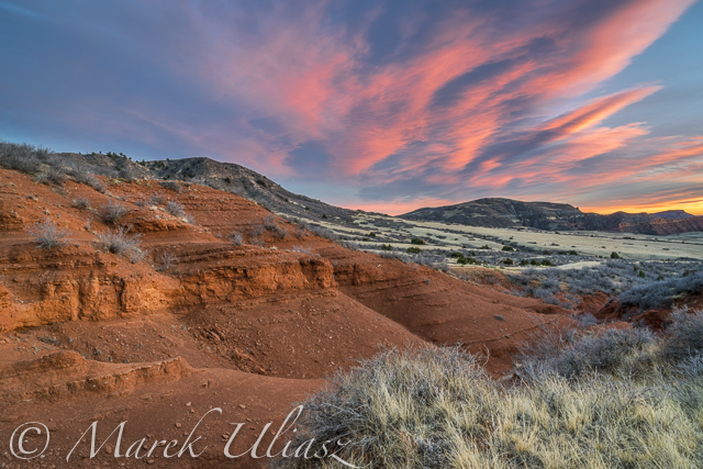 sunset Red Mountain Open Space